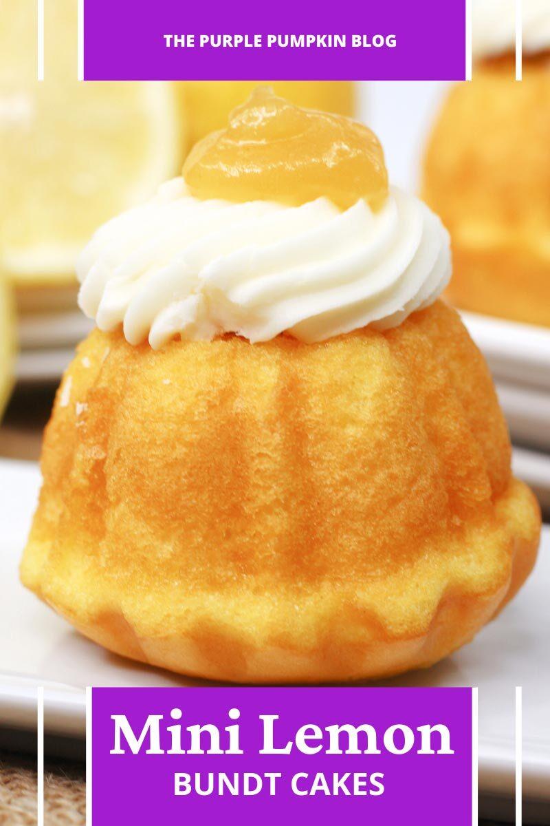 Simple Mini Lemon Bundt Cakes