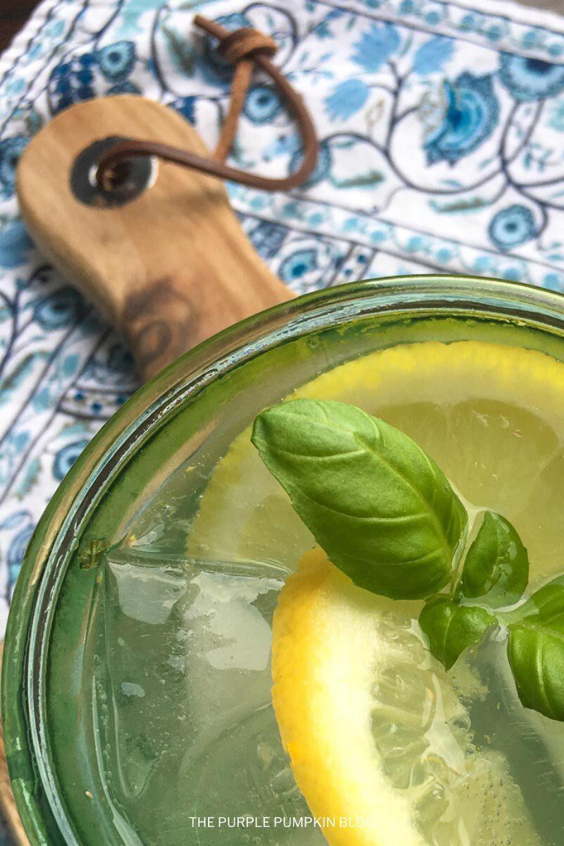 Summer Cocktail - Lemon Herb Vodka Spritzer