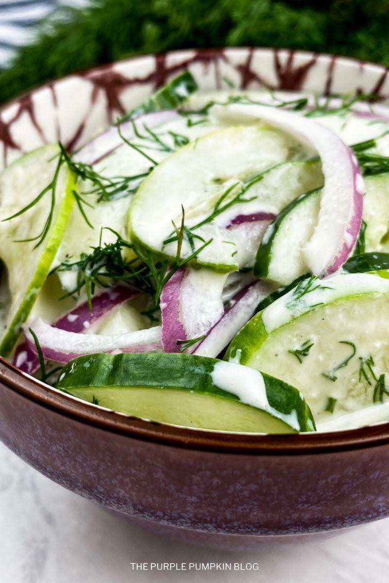 Summer Side Salad with Dill Cucumber & Greek Yogurt