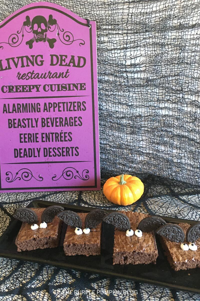 Super Simple Bat Brownies for Halloween