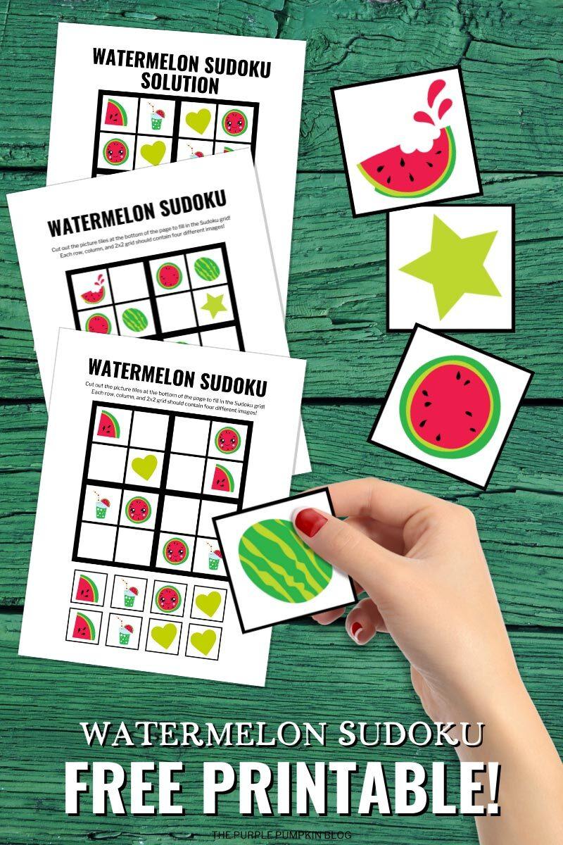 Watermelon Sudoku Free Printable
