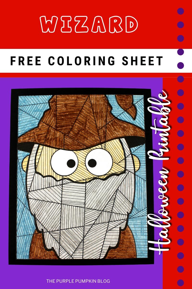 Wizard Free Coloring Sheet for Halloween