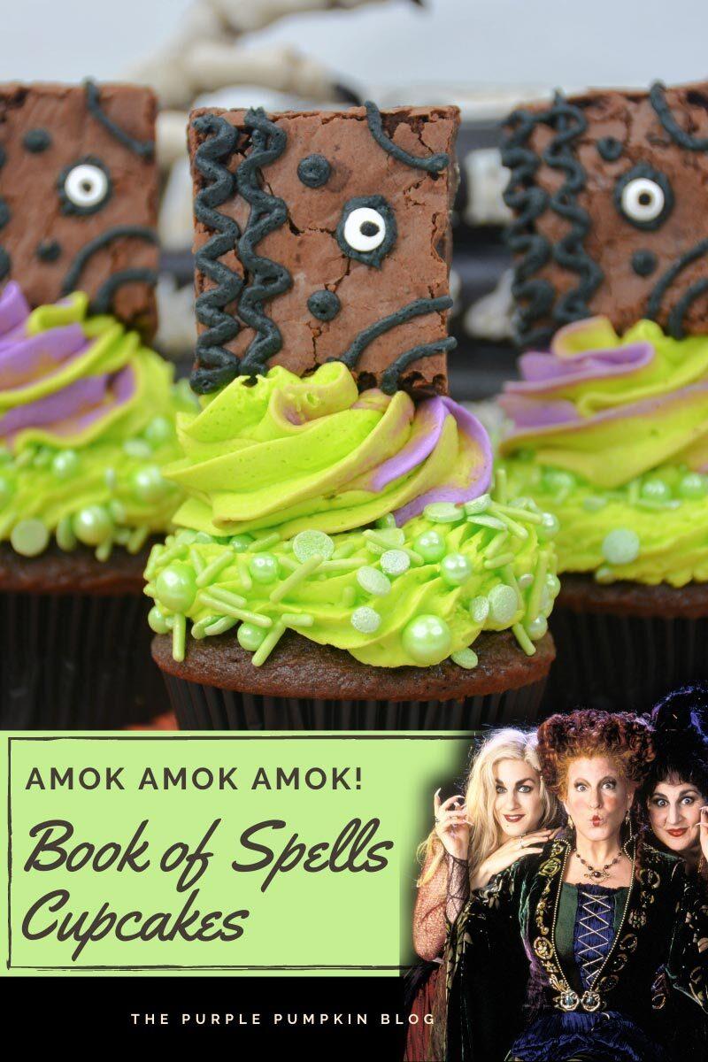 Amok Amok Amok! Book of Spells Cupcakes