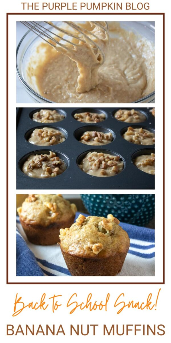 Back to School Snack! Banana Nut Muffins