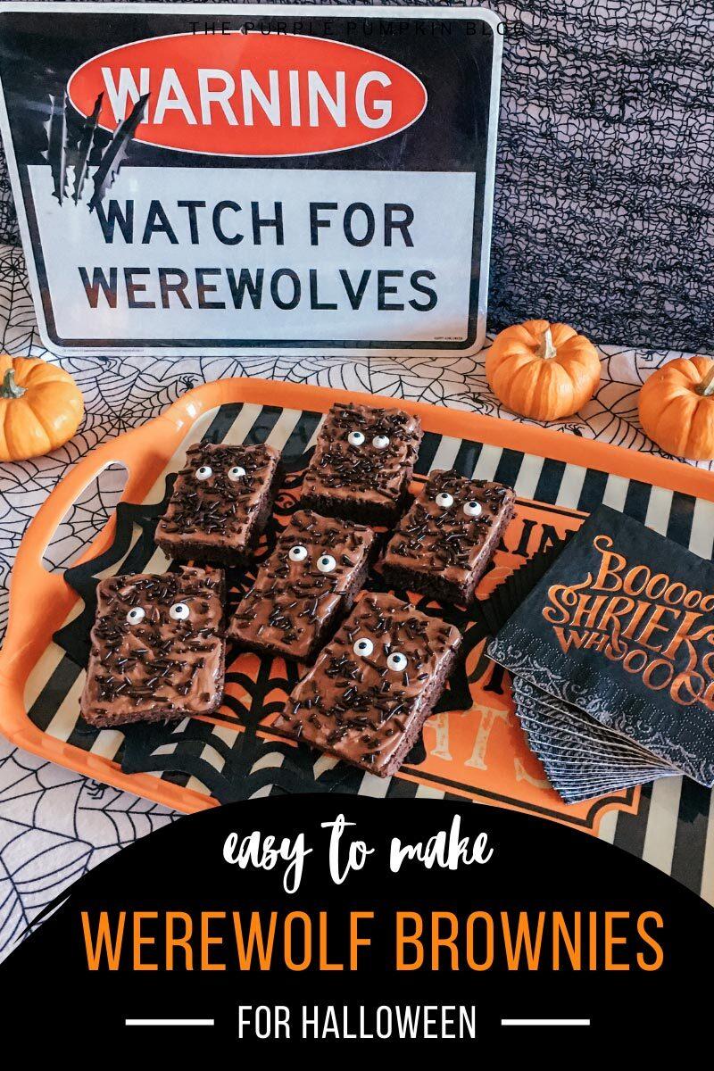 Easy to Make Werewolf Brownies for Halloween