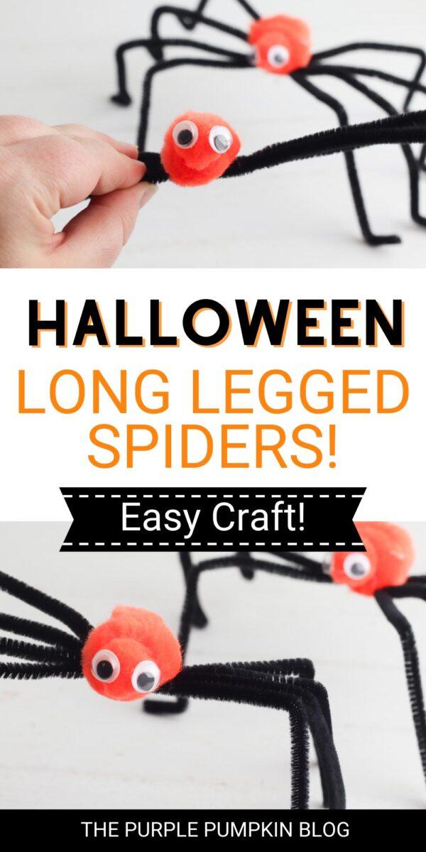Halloween Long Legged Spiders! Easy Craft!