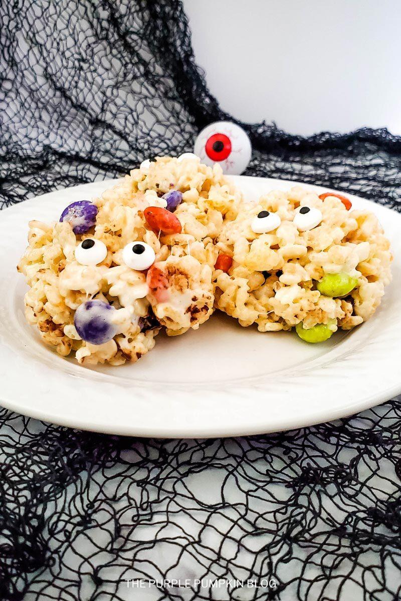 Halloween Rice Krispie Monsters