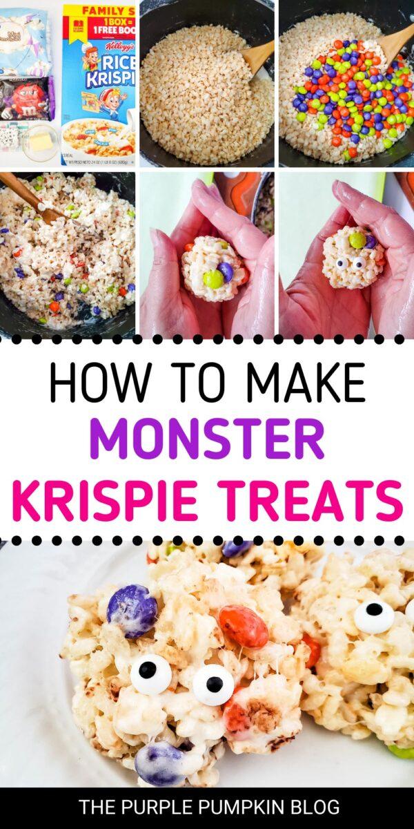 How to Make Monster Krispie Treats