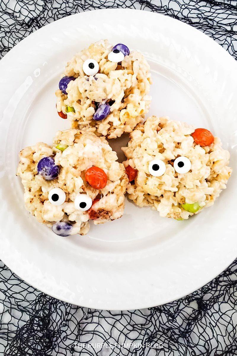 Rice Krispie Monsters for Halloween