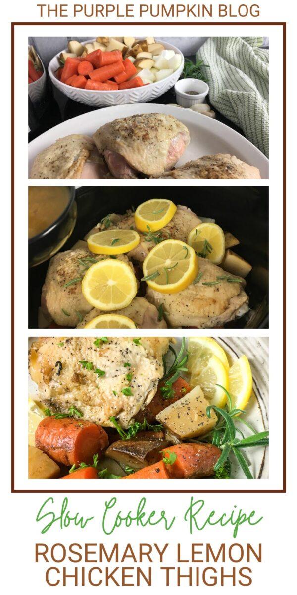 Slow Cooker Recipe Rosemary Lemon Chicken Thighs