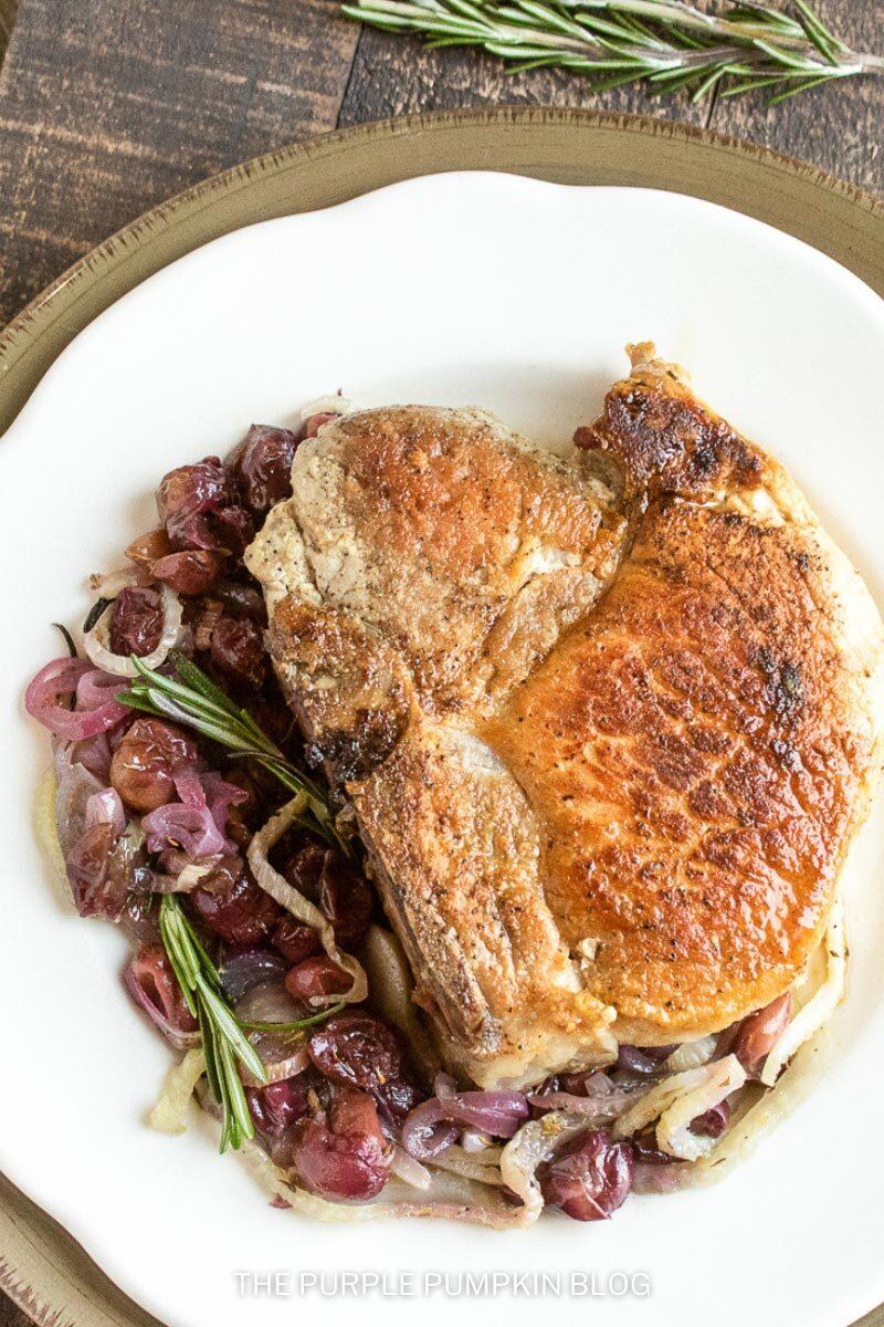 Thick-Cut Pork Chops & Roasted Fennel