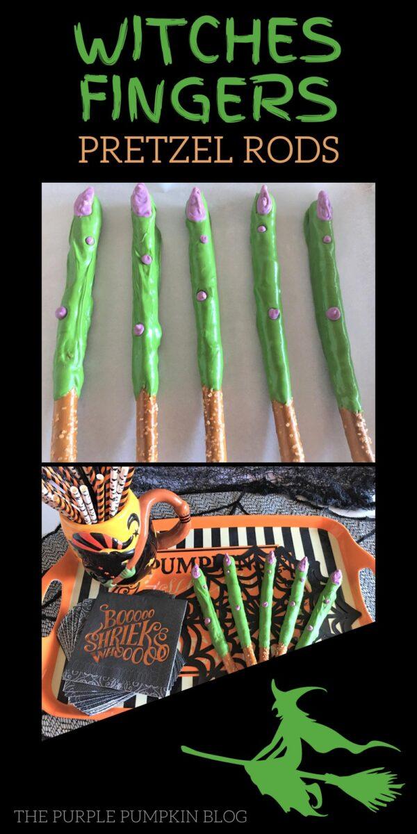 Witches Fingers Pretzel Rods