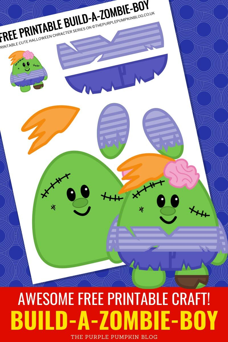 Awesome Free Printable Craft! Build-A-Zombie-Boy