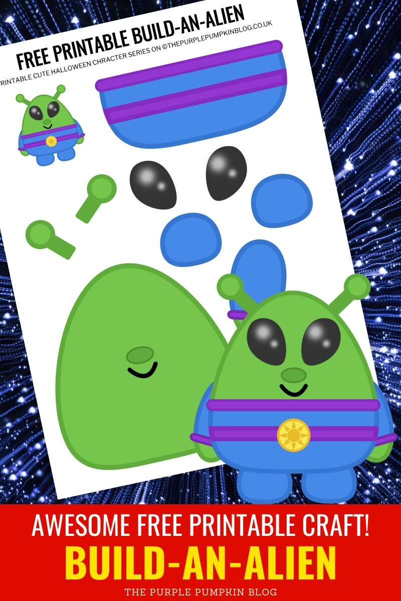 Awesome Free Printable Craft! Build-An-Alien