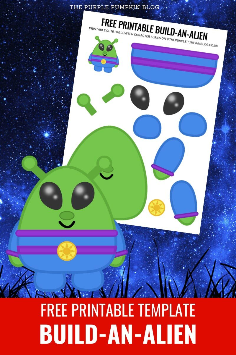 Free Printable Template - Build-An-Alien