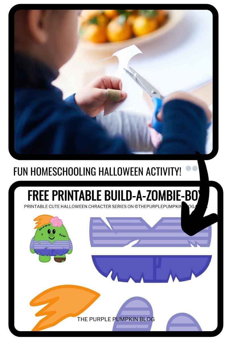 Fun Home School Halloween Activity - Build A Zombie