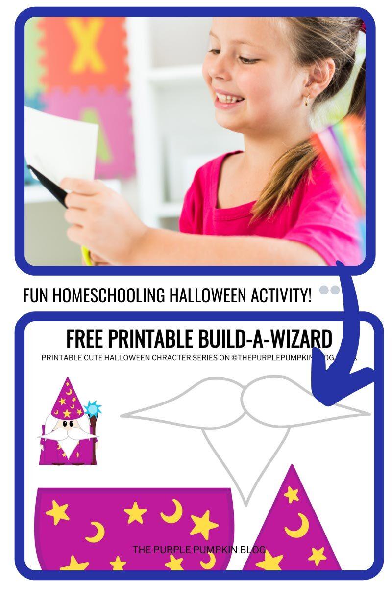 Fun Homeschooling Halloween Activity - Free Printable Build a Wizard